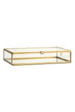Large clear glass box - Gold - Home All | H&M CN 2
