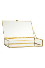 Large clear glass box - Gold - Home All | H&M CN 3