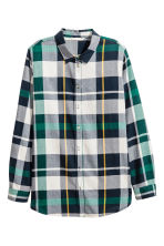 Flannel shirt - Green/Checked - Ladies | H&M CN 2