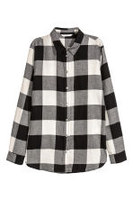 Flannel shirt - Black/Checked - Ladies | H&M CN 2