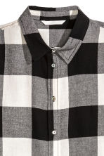 Camicia in flanella - Nero/quadri - DONNA | H&M IT 3