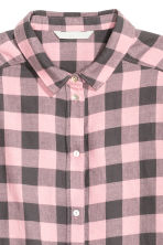 Flannel shirt - Light pink/Checked - Ladies | H&M 3