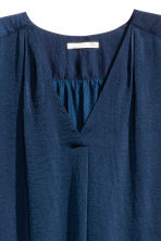 Satin blouse - Dark blue - Ladies | H&M CN 2