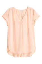 Satin blouse - Powder - Ladies | H&M CN 2
