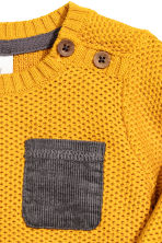 Textured-knit jumper - Mustard yellow - Kids | H&M CN 2