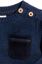 Textured-knit jumper - Dark blue - Kids | H&M 2