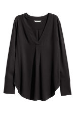 V-neck blouse - Black - Ladies | H&M CN 2