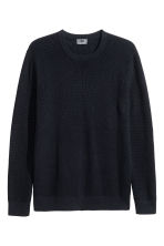 Premium cotton jumper - Dark blue - Men | H&M CN 2