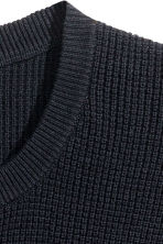 Premium cotton jumper - Dark blue - Men | H&M CN 3