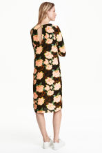 Crêpe dress - Black/Floral - Ladies | H&M CN 4