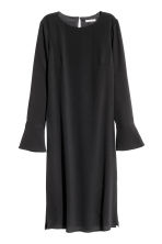 Crêpe dress - Black -  | H&M CN 2