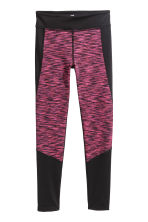 Sports tights - Pink marl - Kids | H&M CN 2