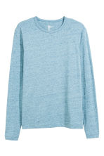Long-sleeved T-shirt - Light blue marl - Men | H&M GB 2