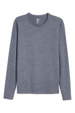 Long-sleeved T-shirt - Dark blue marl - Men | H&M CN 2