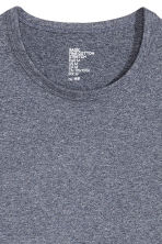 Long-sleeved T-shirt - Dark blue marl - Men | H&M CN 3