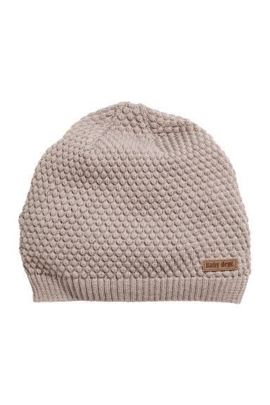 Knitted hat - Grey beige - Kids | H&M CN 1