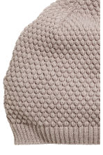 Knitted hat - Grey beige - Kids | H&M CN 2