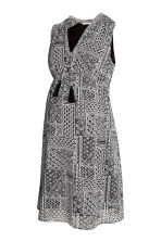 MAMA Patterned dress - Black/White - Ladies | H&M CN 2