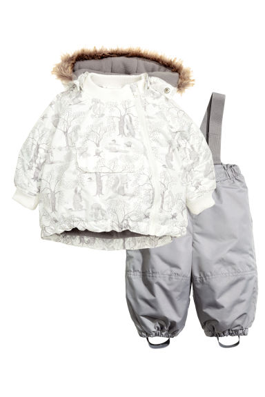 Padded jacket and trousers - Natural white/Grey - Kids | H&M CN 1