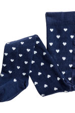 2-pack tights - White/Dark blue/Striped - Kids | H&M CN 2