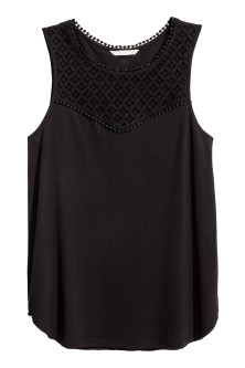 Vest top with lace