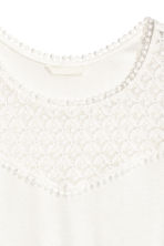 Vest top with lace - White - Ladies | H&M CN 3