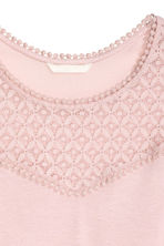 Vest top with lace - Powder pink - Ladies | H&M CN 2