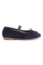 Suede ballet pumps - Dark blue -  | H&M CN 3