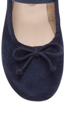 Suede ballet pumps - Dark blue -  | H&M CN 5