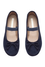 Suede ballet pumps - Dark blue -  | H&M CN 2