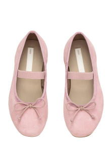 Suede ballet pumps