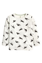 Long-sleeved T-shirt - Light beige/Dinosaurs - Kids | H&M CN 2