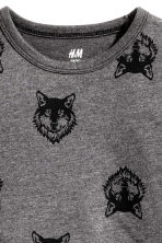 Long-sleeved T-shirt - Dark Grey/Wolf - Kids | H&M CN 3