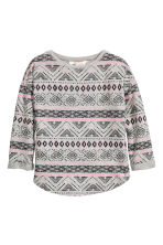 Sweatshirt with a motif - Grey/Patterned - Kids | H&M CN 2