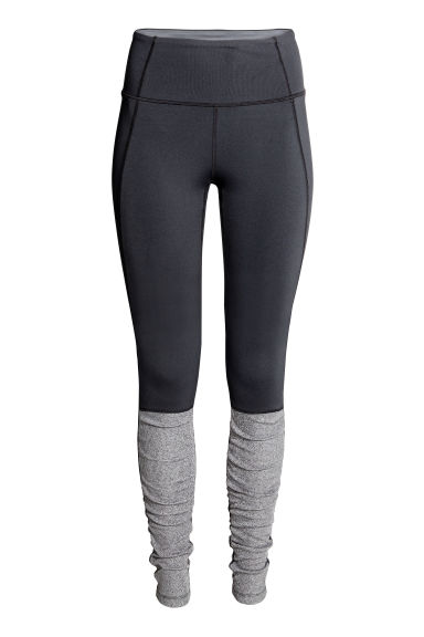 Yoga tights - Black/Grey marl - Ladies | H&M CN 1