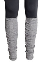 Yoga tights - Black/Grey marl - Ladies | H&M CN 2
