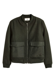 Bomber jacket in a wool blend