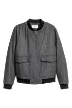 Bomber jacket in a wool blend - Dark grey marl - Men | H&M CN 2