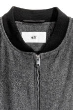 Bomber jacket in a wool blend - Dark grey marl - Men | H&M CN 3