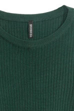 Rib-knit jumper - Emerald green - Ladies | H&M CN 3