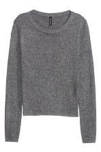 Rib-knit jumper - Black marl - Ladies | H&M CN 2