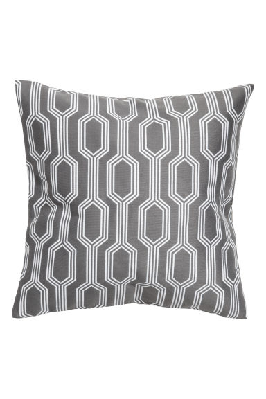 Jacquard-weave cushion cover - Grey/Patterned - Home All | H&M CN 1