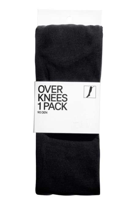 90 denier overknee socks