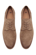 Suede Derby shoes - Dark beige - Men | H&M CN 3