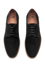 Suede Derby shoes - Black - Men | H&M 3