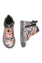 Hi-top trainers - Dark grey/Floral - Kids | H&M CN 2