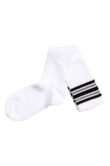 Knee socks - White - Ladies | H&M CN 1