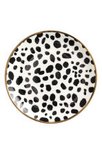 Leopard-print porcelain plate - White/Black - Home All | H&M CN 2