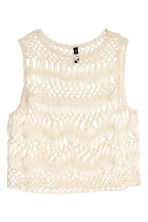 Lace-knit top - Natural white - Ladies | H&M CN 2