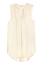 Sleeveless top - Natural white - Ladies | H&M CN 2